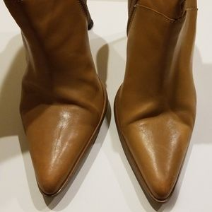 Vintage - Camel Tan Ankle Thin-heeled Boot